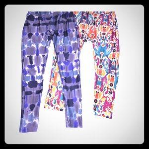 2 pairs Beautiful Prismsport Capri Leggings